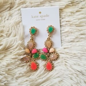 Kate spade multicolored faux jewel earrings